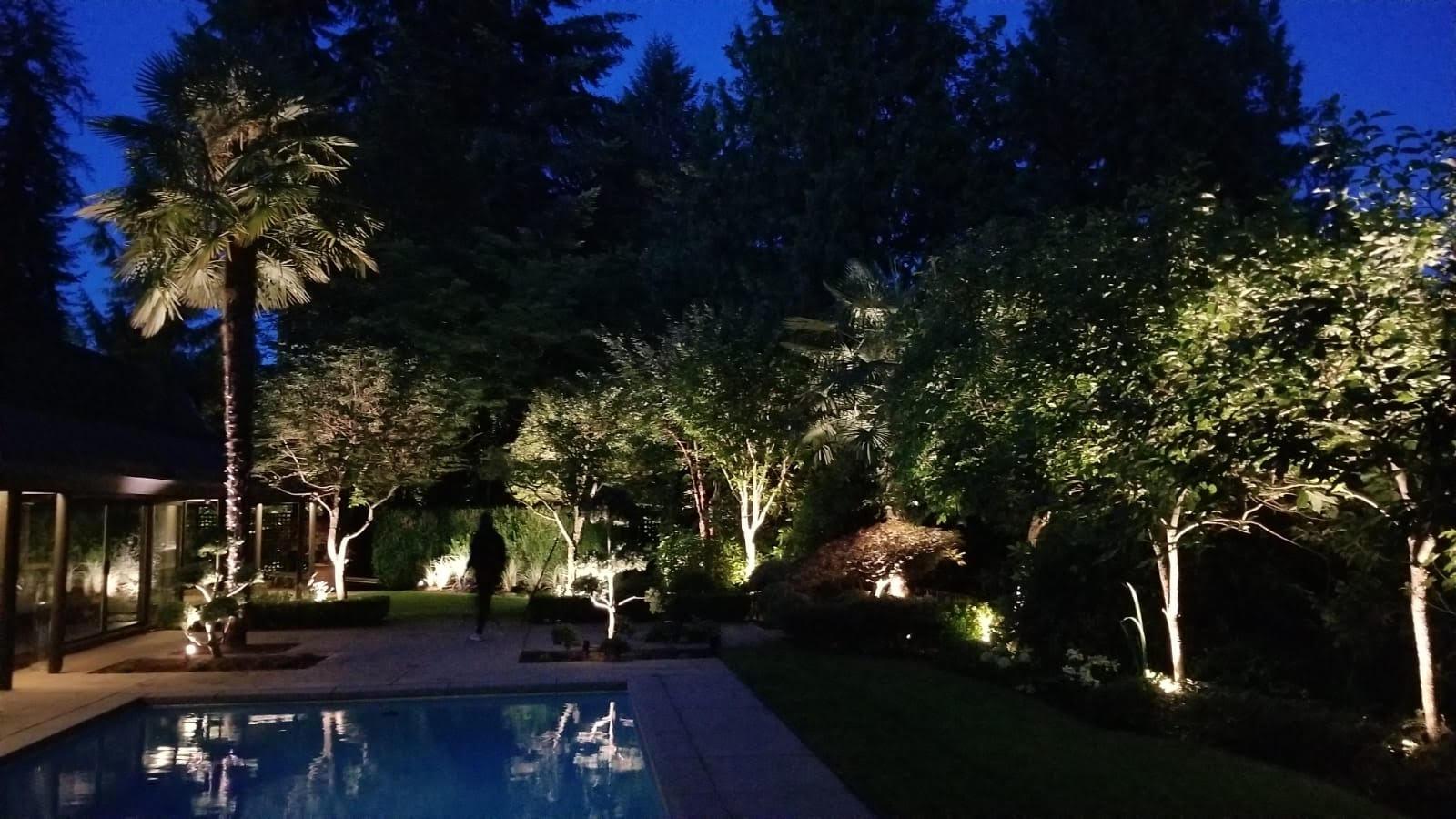 Landscape Lighting Pool Norvan Lighting
